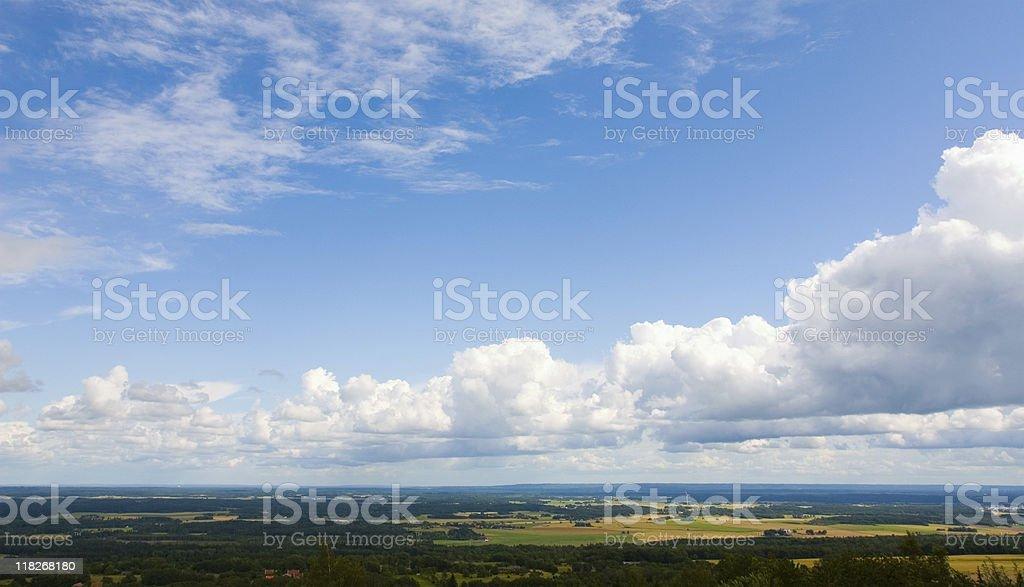 View from Mount Kinnekulle stock photo