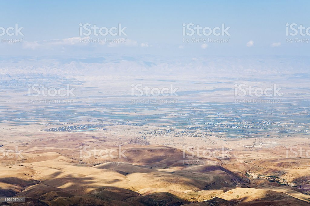 view from Mount Nebo in Jordan royalty-free stock photo