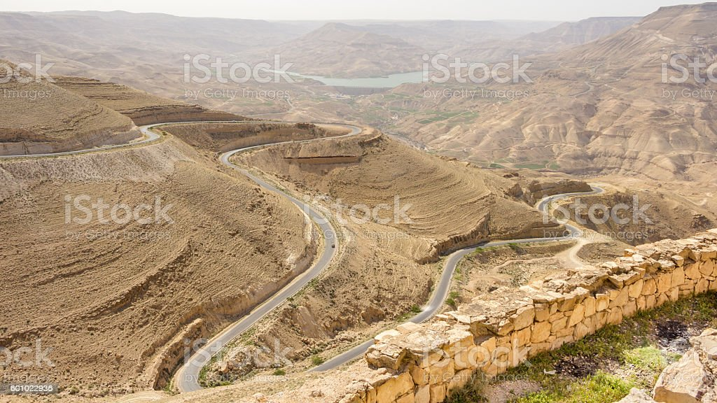 View from Mount Nebo in Jordan stock photo