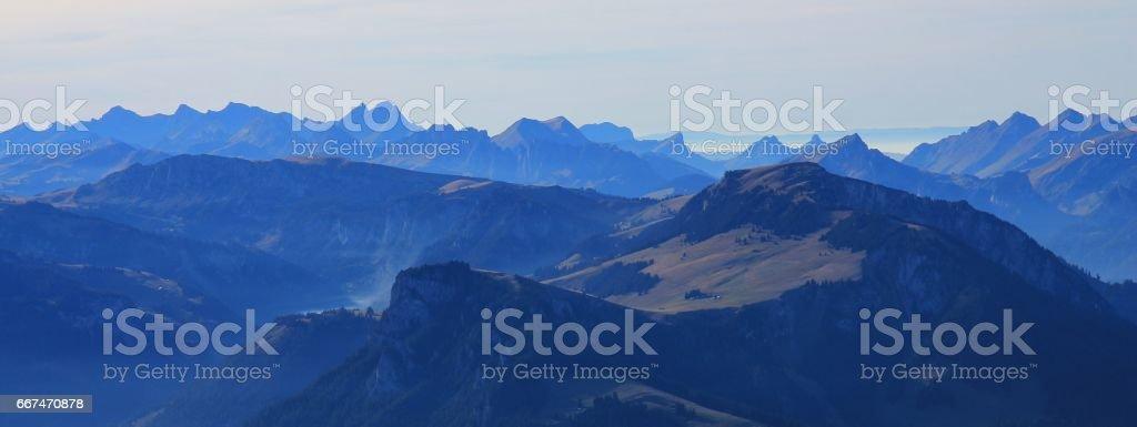 View from mount Niesen stock photo