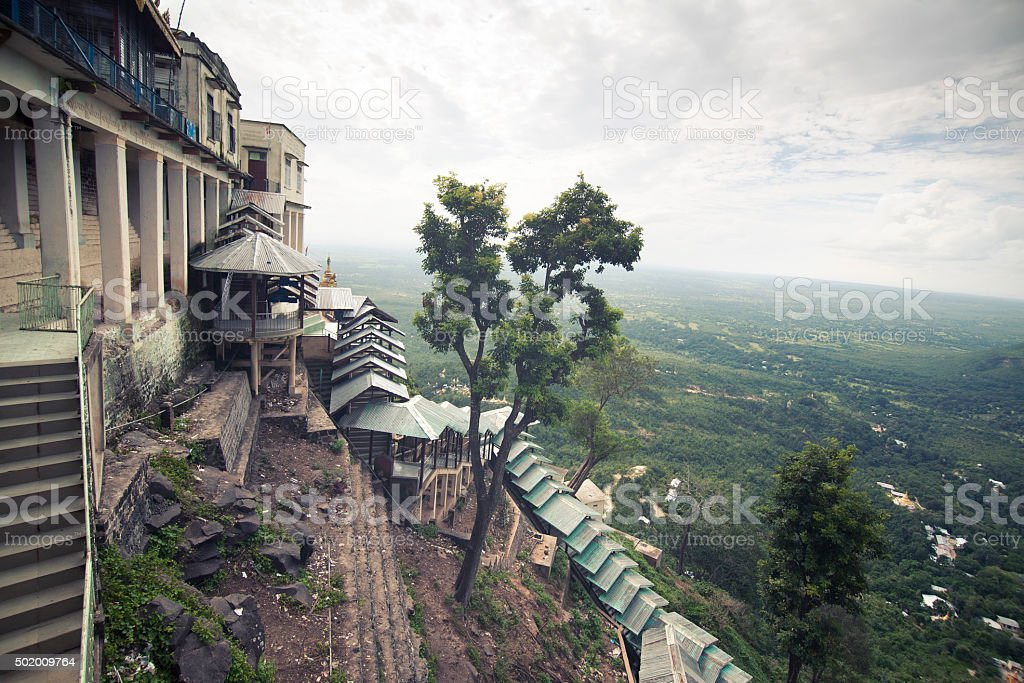 View From Mount Popa Monastery stock photo