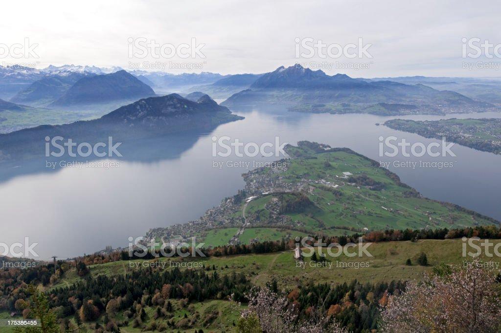 View from Mount Rigi stock photo