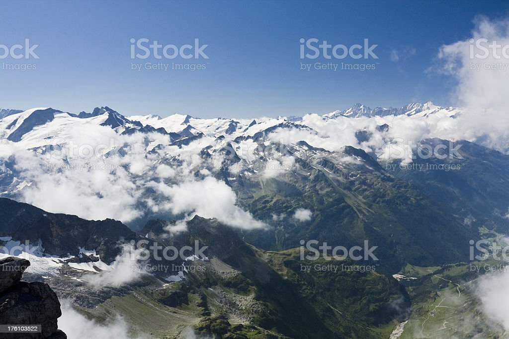 View from Mount Titlis (Switzerland) stock photo