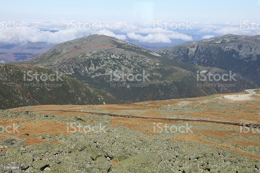 View from Mount Washington stock photo
