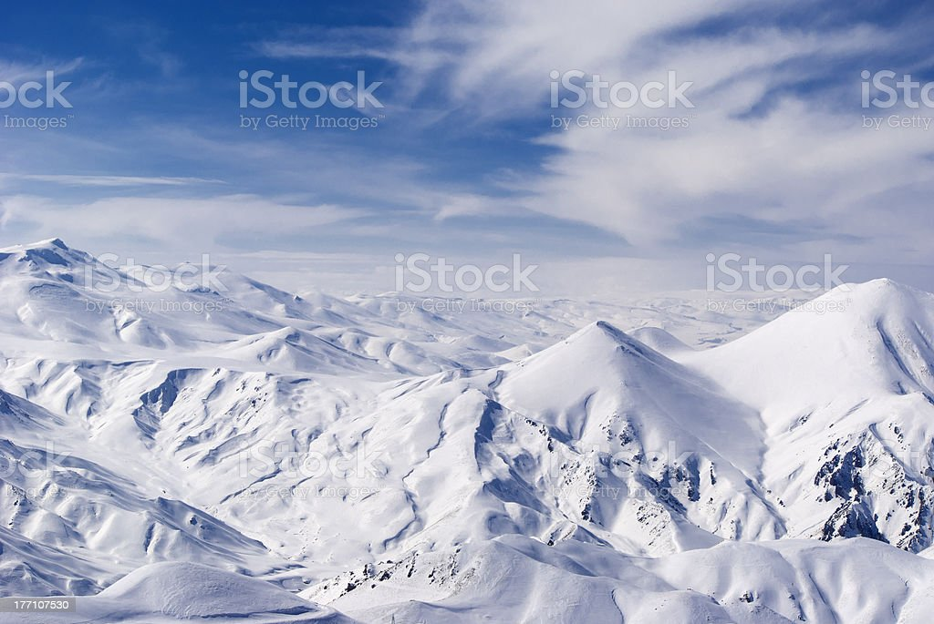 View from mountain Ejder. Palandoken royalty-free stock photo