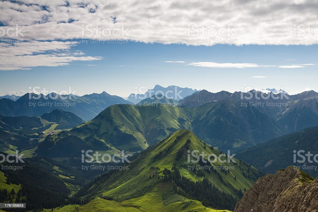view from mt. galtjoch royalty-free stock photo