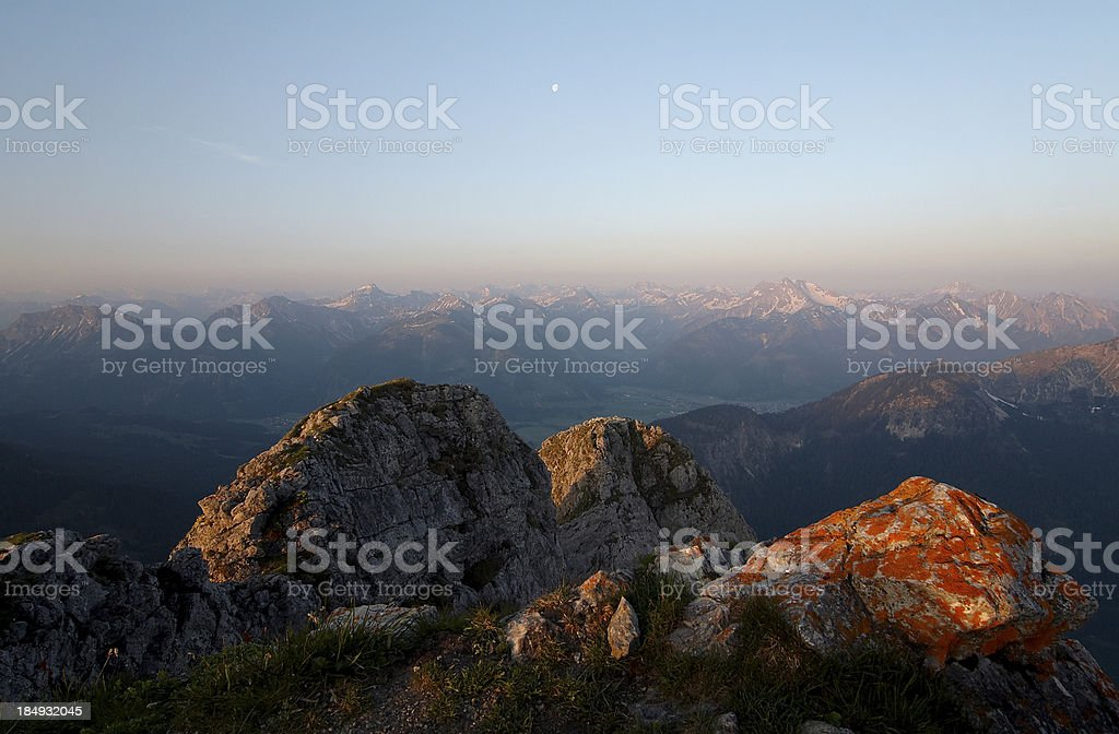 view from mt. grubigstein royalty-free stock photo