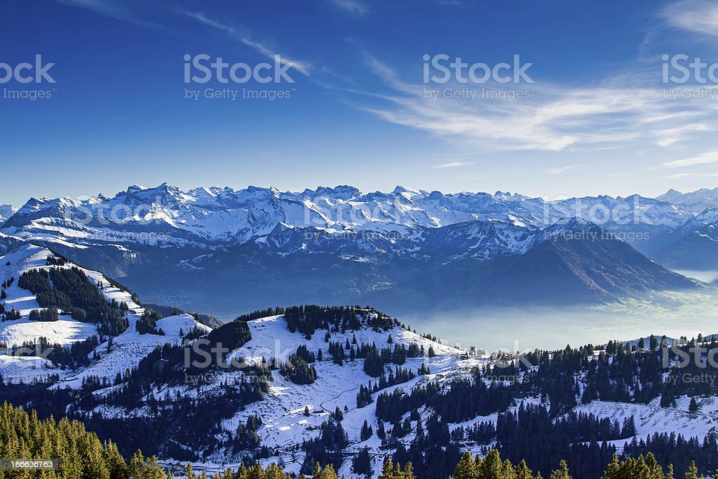 View from Mt. Rigi, Switzerland royalty-free stock photo