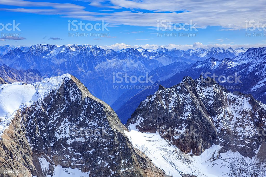 View from Mt. Titlis in the Swiss Alps stock photo
