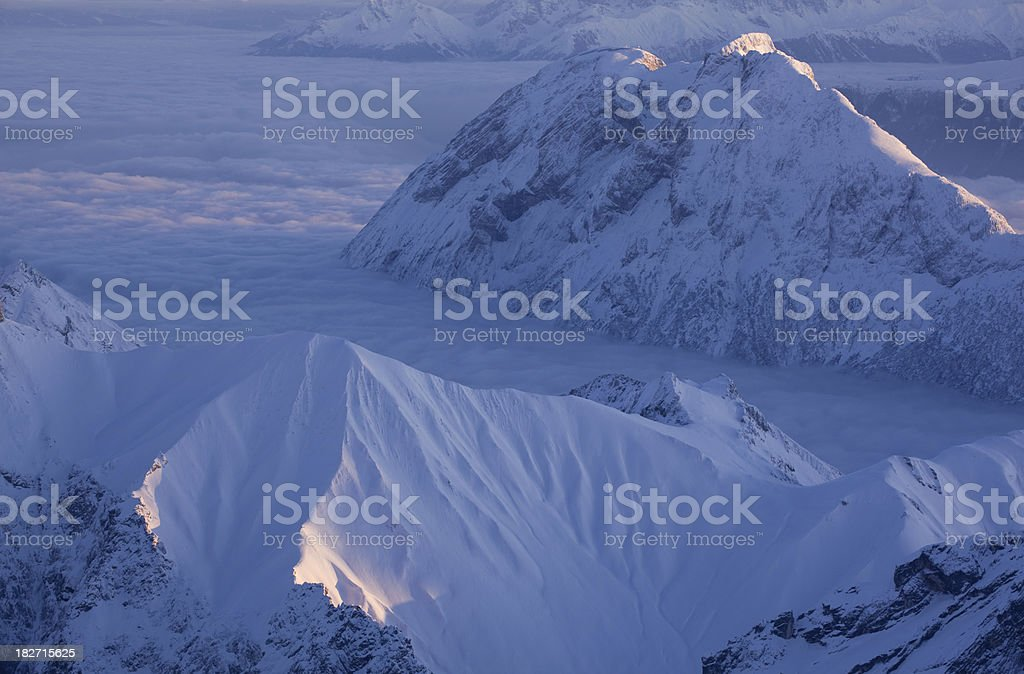 view from Mt. Zugspitze, bavaria, germany royalty-free stock photo