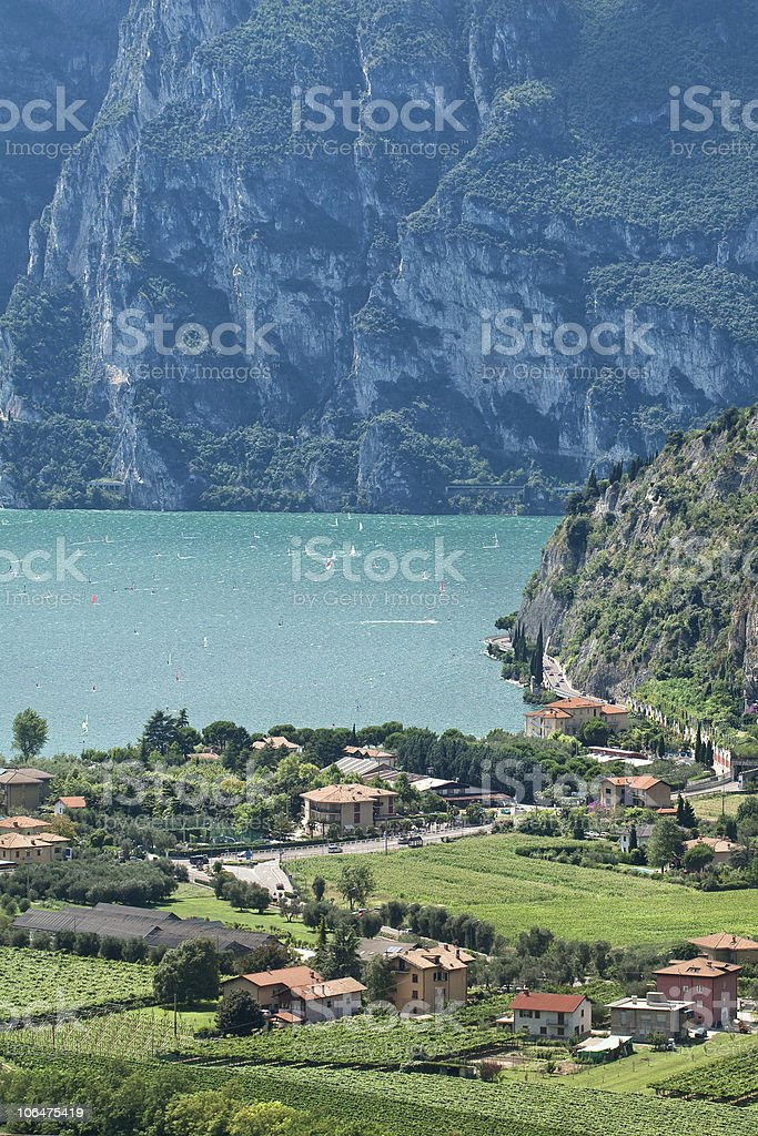 View from Nago village on lake Garda, Italy royalty-free stock photo