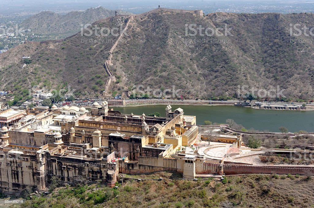 View from Nahargarh Fort stock photo