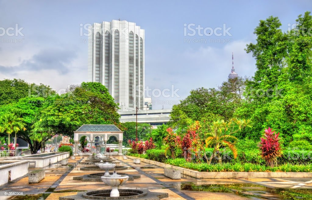View from National Mosque of Malaysia in Kuala Lumpur stock photo