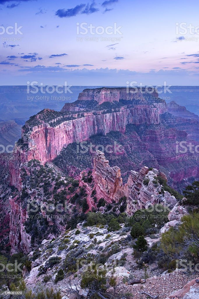 View from North Rim of the Grand Canyon, Arizona, USA royalty-free stock photo