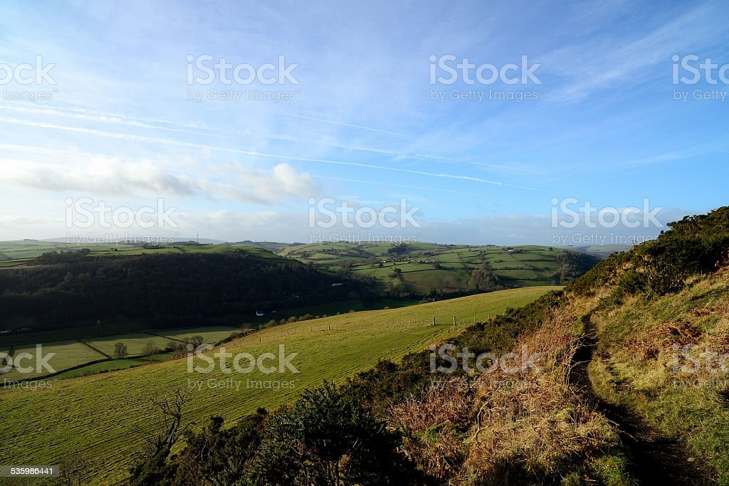 View From Offas Dyke Path stock photo