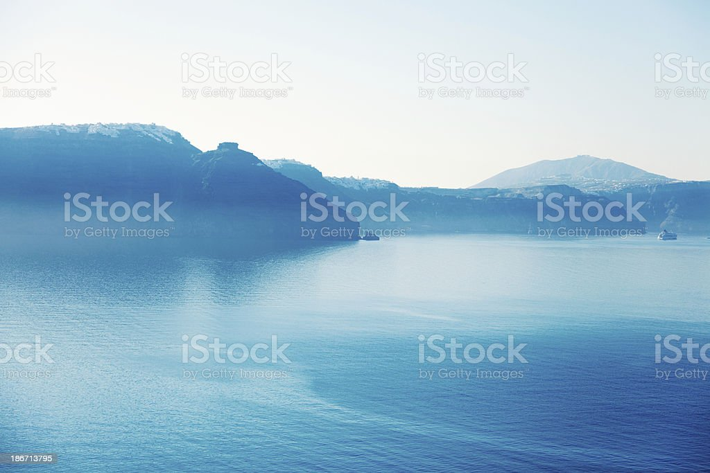 View from Oia, Santorini royalty-free stock photo