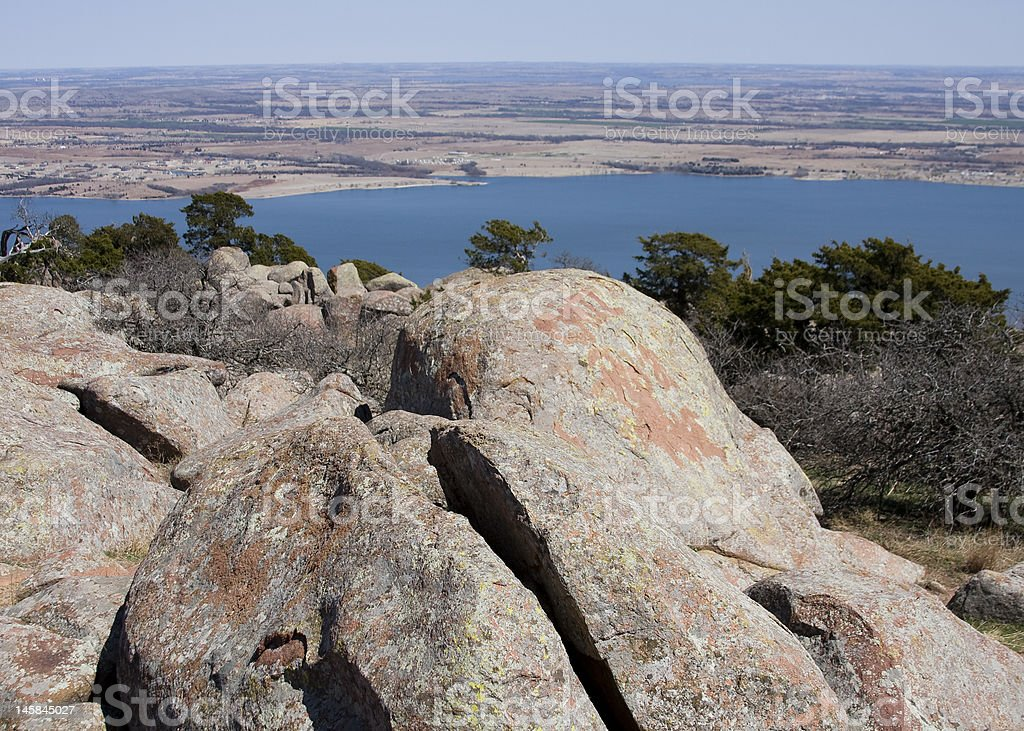 View from Oklahoma's Mt. Scott royalty-free stock photo