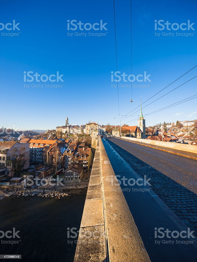 View from Old Nydeggbrücke, Bern, Switzerland royalty-free stock photo