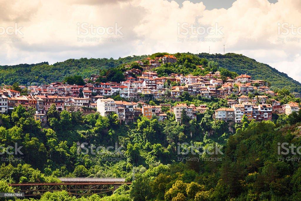 View from old town of Veliko Tarnovo, Bulgaria stock photo