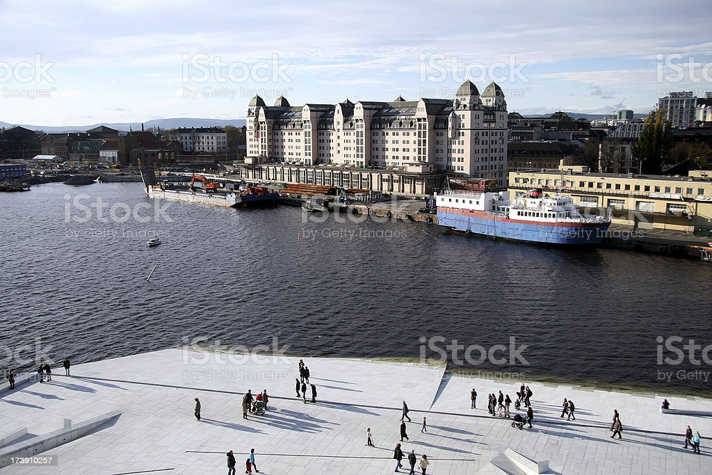 view from Oslo opera house royalty-free stock photo