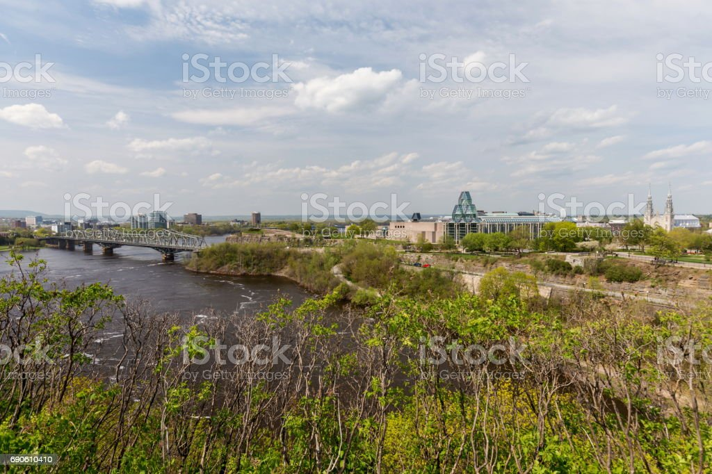 View from Parliament Hill Ottawa. stock photo
