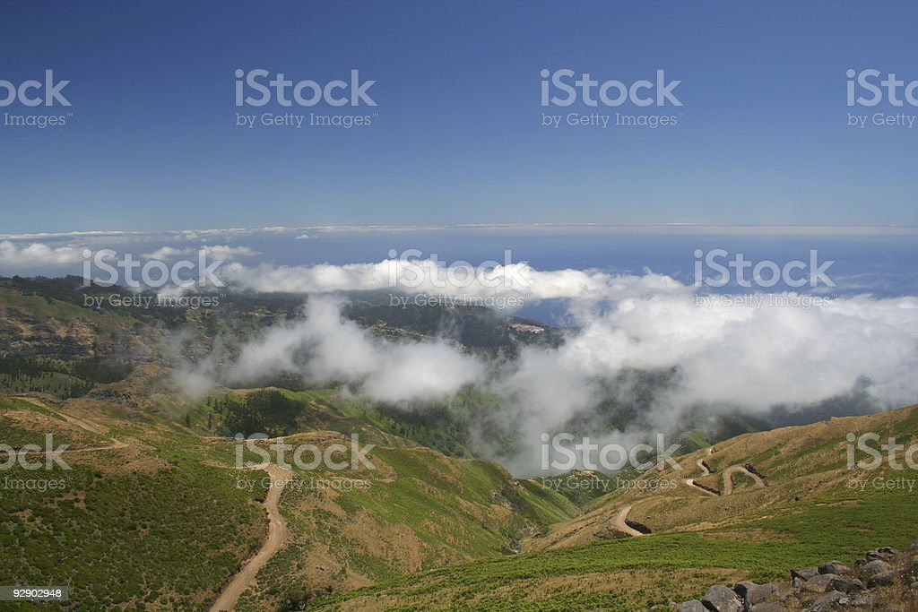 view from Paul de Serras road royalty-free stock photo