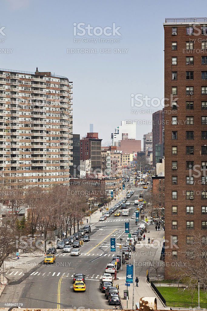 View From Pedestrain Crossing of Brooklyn Bridge, NYC royalty-free stock photo