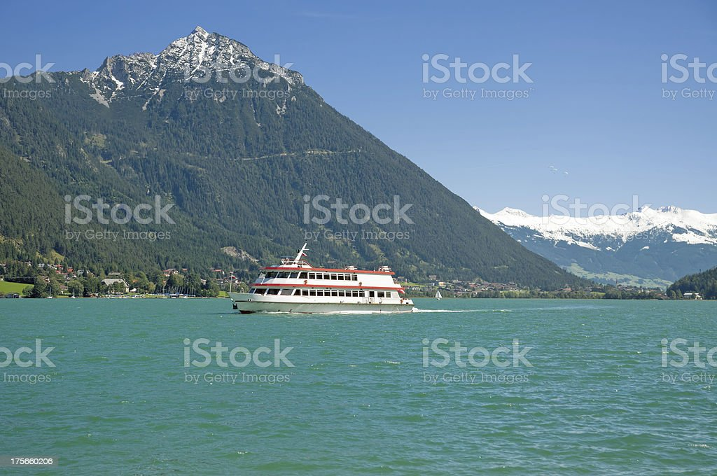 View from Pertisau to Achensee,Tirol,Austria stock photo