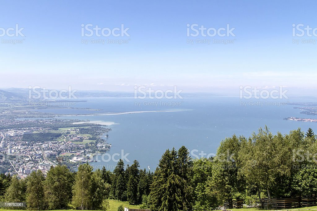 View from Pfaender mountain stock photo