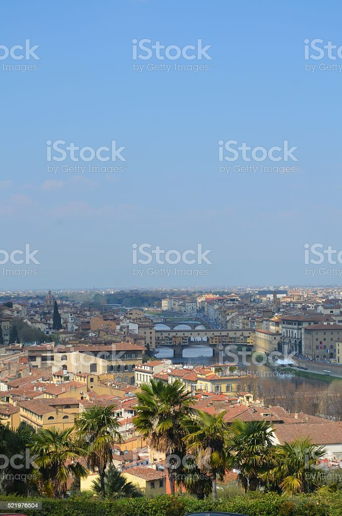 View from Piazzale Michelangelo stock photo