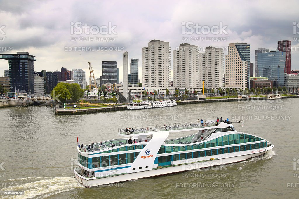 ROTTERDAM, THE NETHERLANDS - 18 AUGUST: View from stock photo