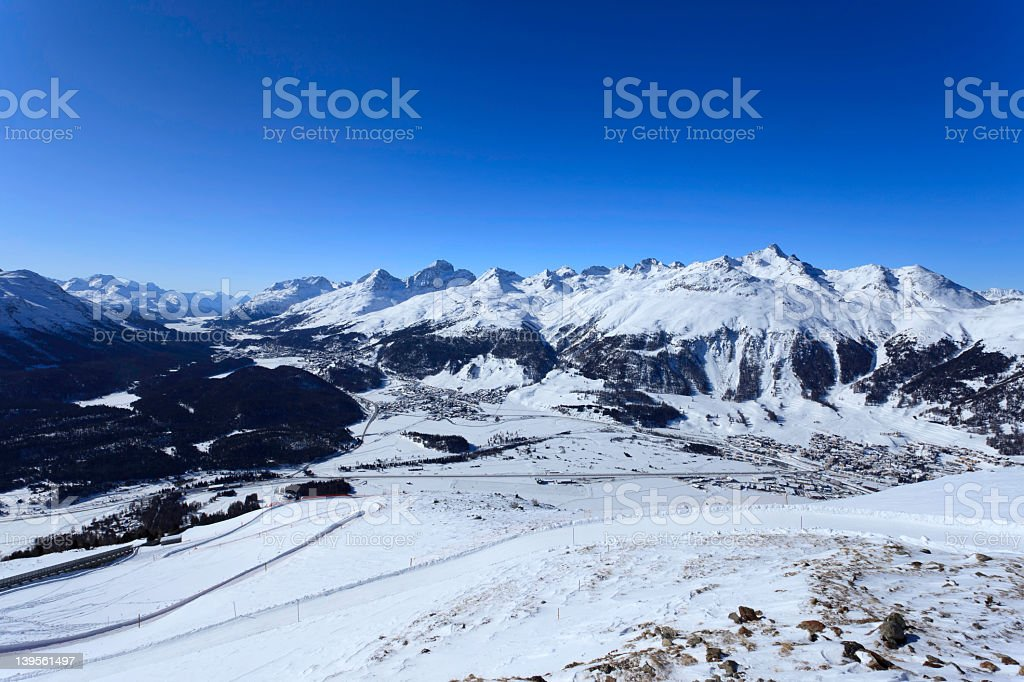 View from Piz Muragl - Switzerland royalty-free stock photo