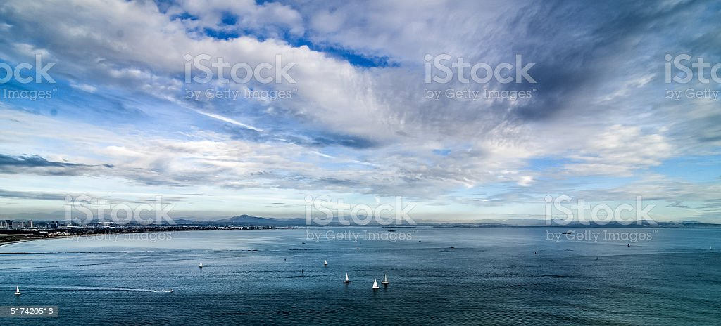 View from Point Loma stock photo