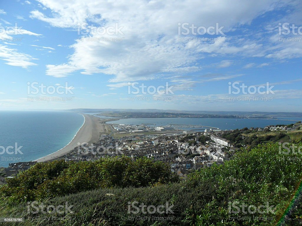 View from Portland Isle, Dorset stock photo