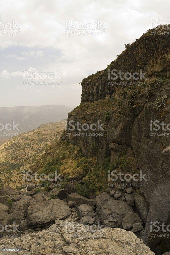 View from Portuguese Bridge in Ethiopia royalty-free stock photo
