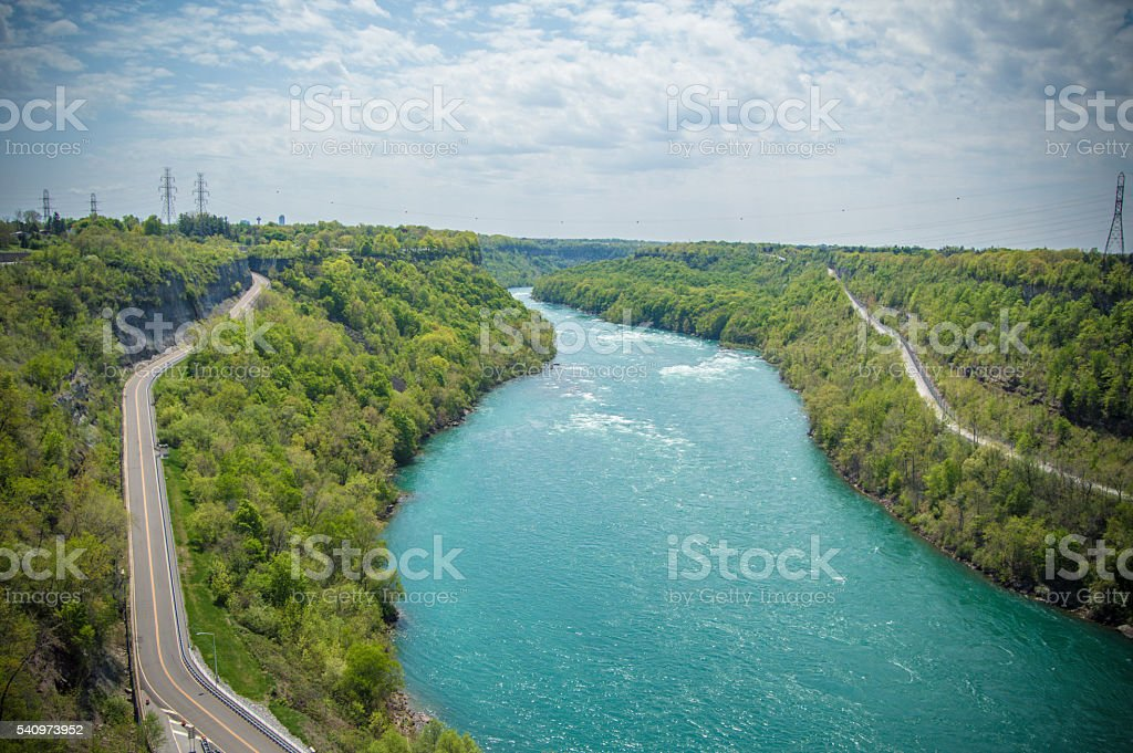 View from Power Plant NY stock photo