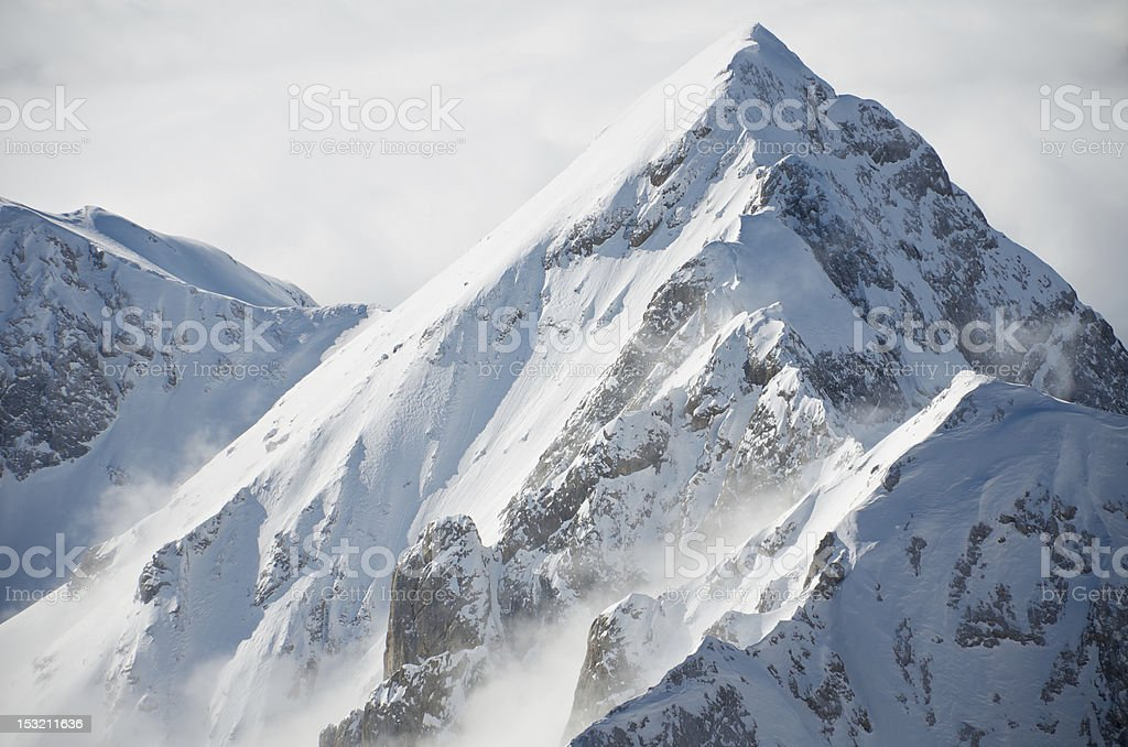 View from Punta Rocca, Marmolada royalty-free stock photo