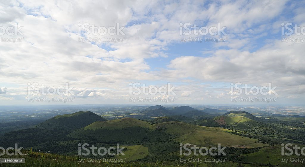 view from Puy de Dome, France stock photo