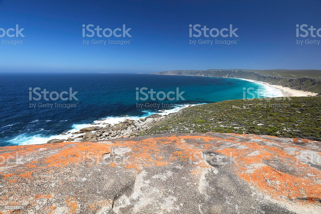 View from Remarkable rocks stock photo