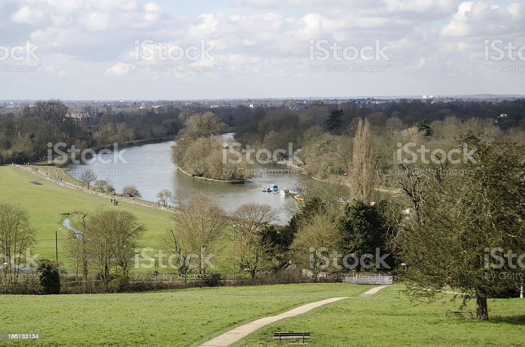 View from Richmond Hill, London stock photo