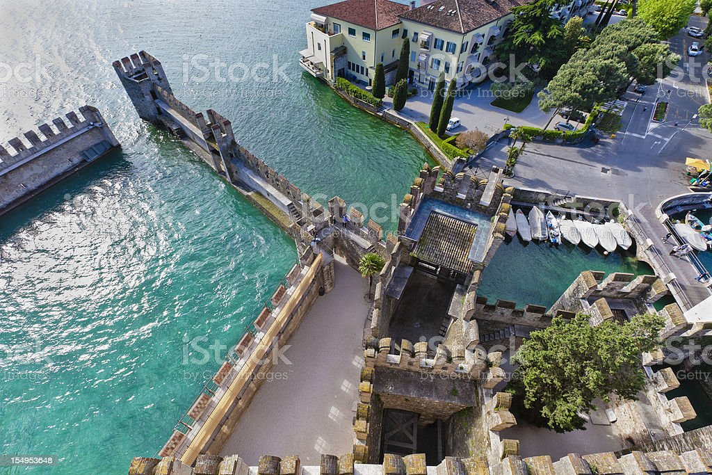 View from Rocca Scaligera, Sirmione stock photo
