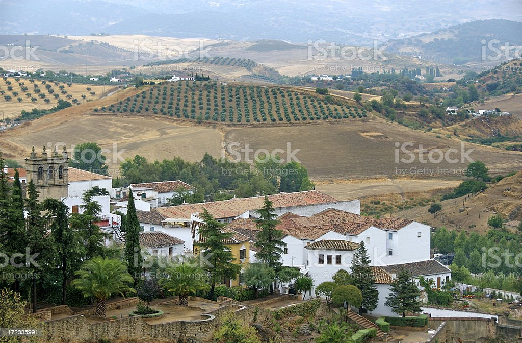 View from Ronda, Spain stock photo