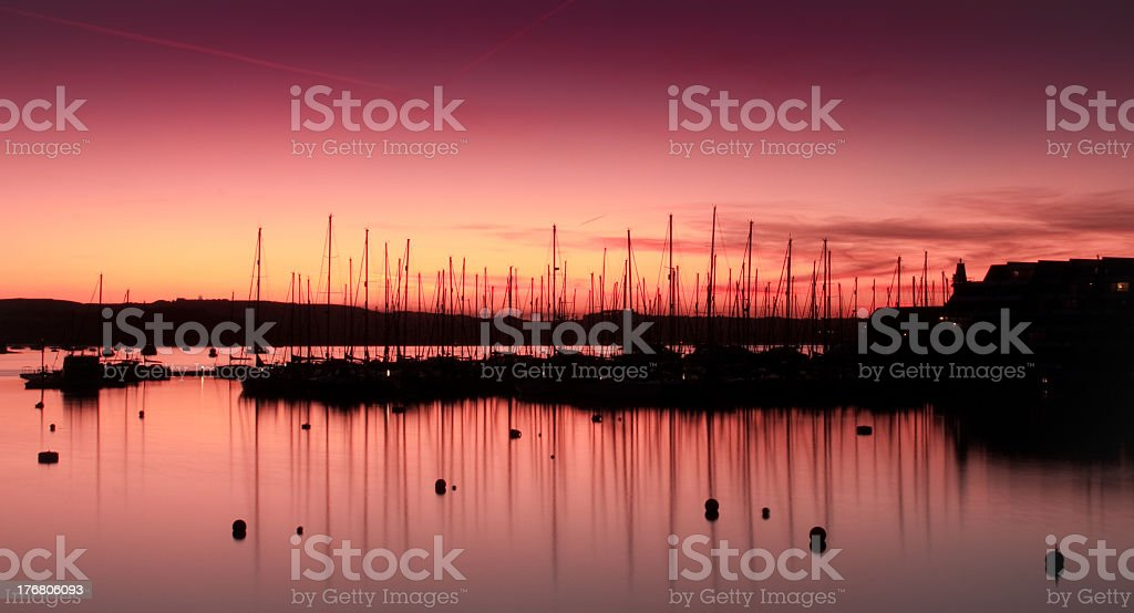 View from Royal William Yard royalty-free stock photo
