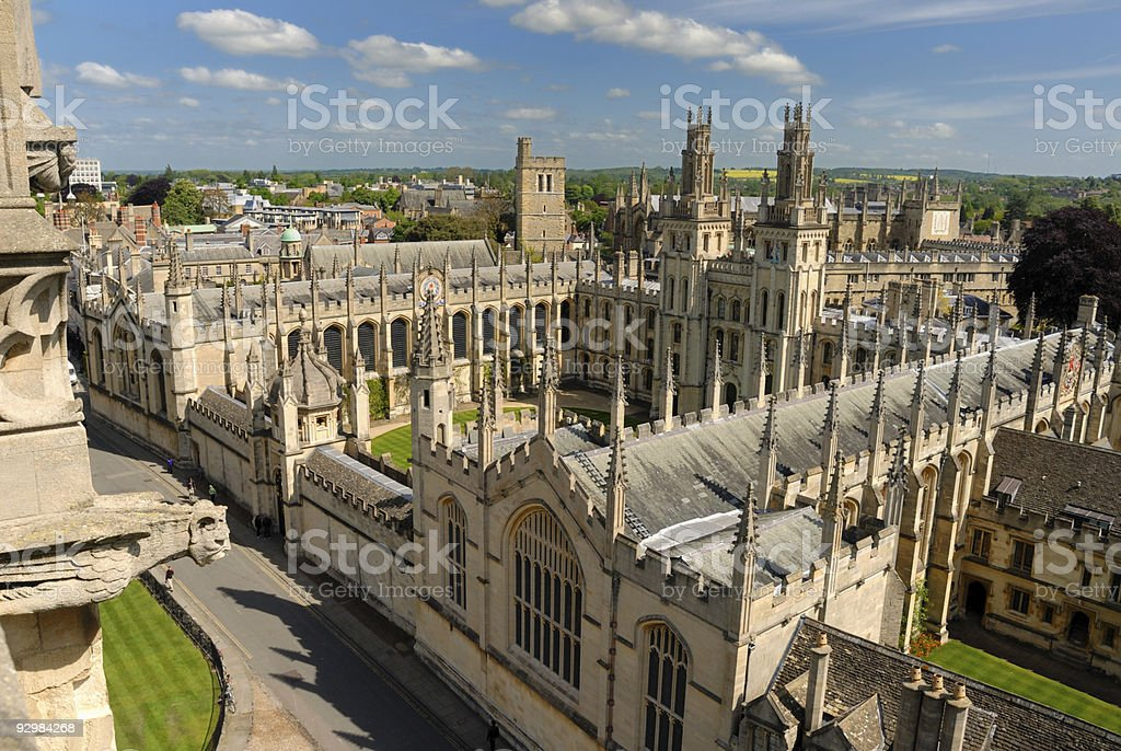 View from Saint Mary church tower, England stock photo