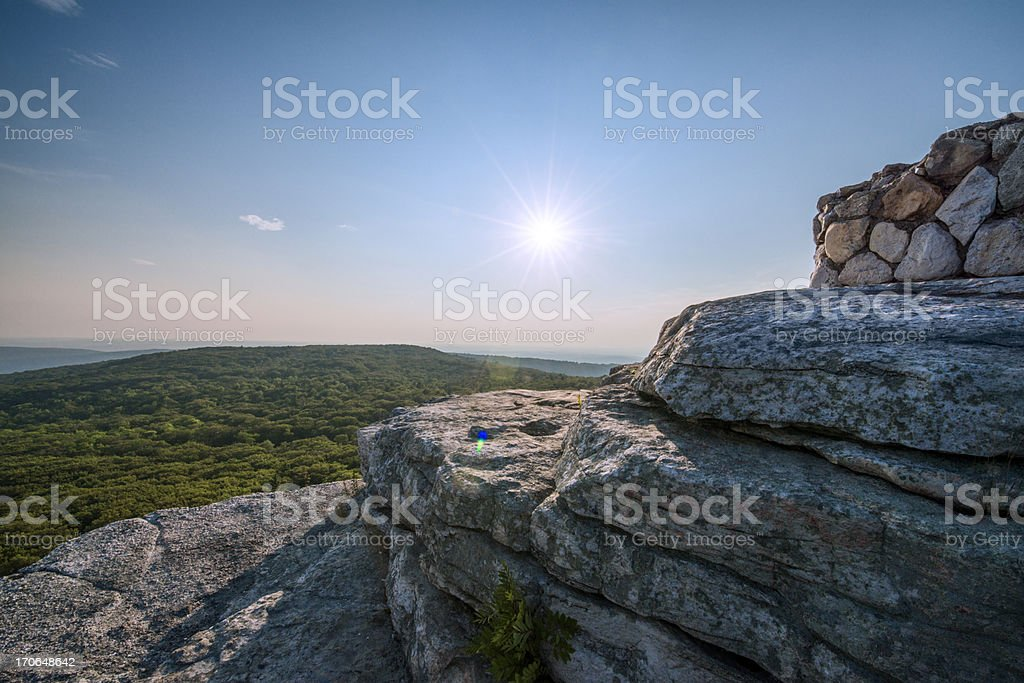 View from Sam's Point Preserve in Ellenville New York stock photo