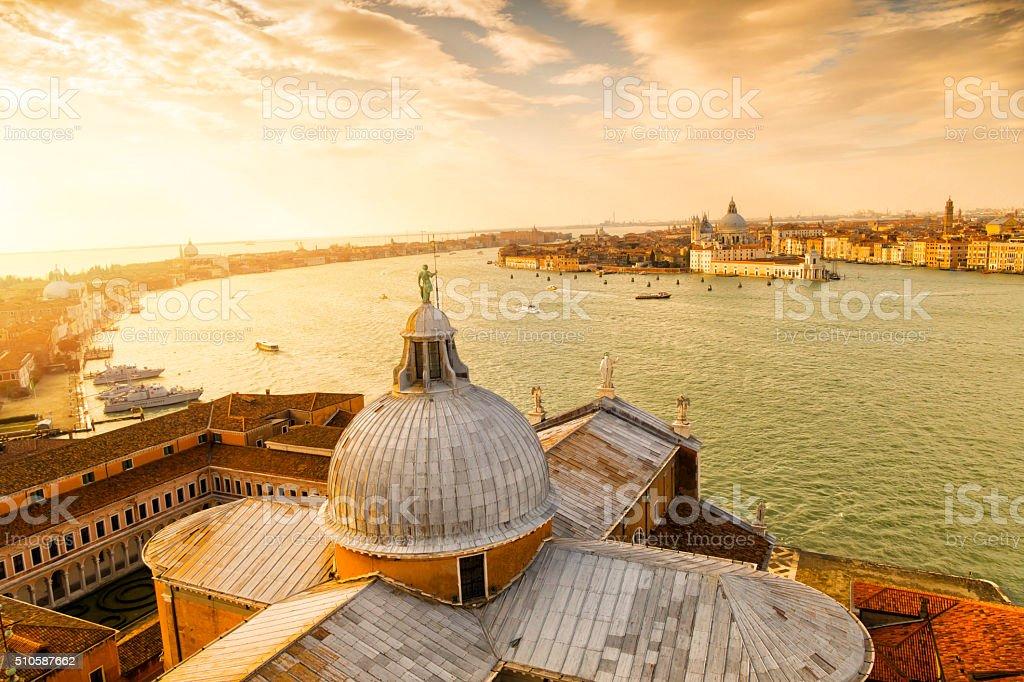 View from San Giorgio Maggiore-Venice, Italy stock photo