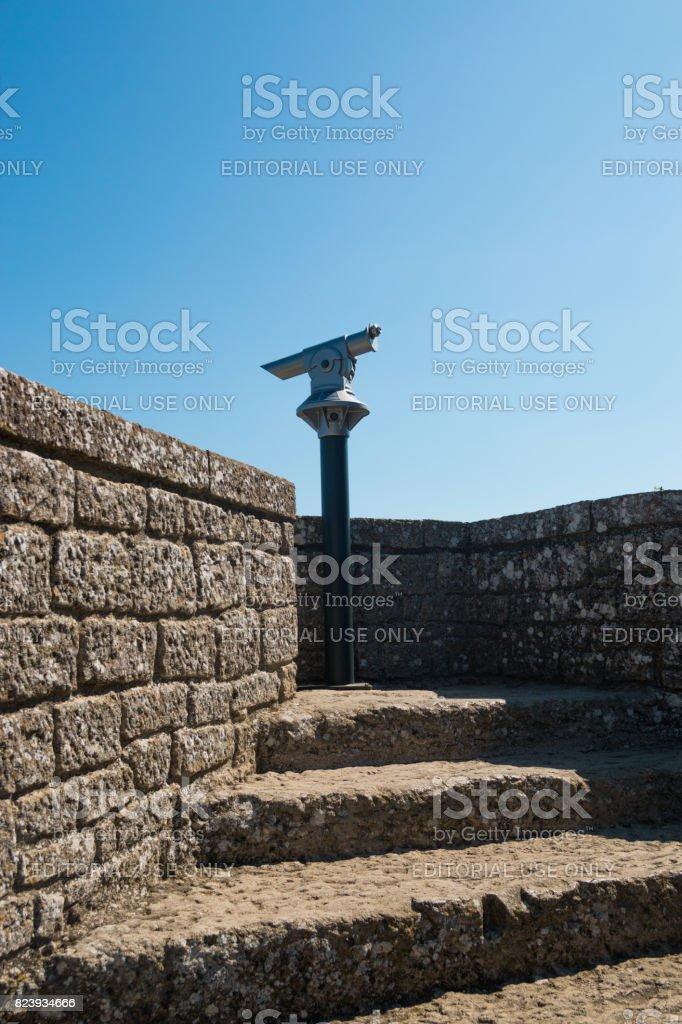 SAN MARINO, ITALY - 10.04.2017: View from San Marino fortress on Adriatic Coast stock photo