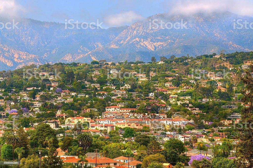 View from Santa Barbara city hall tower stock photo