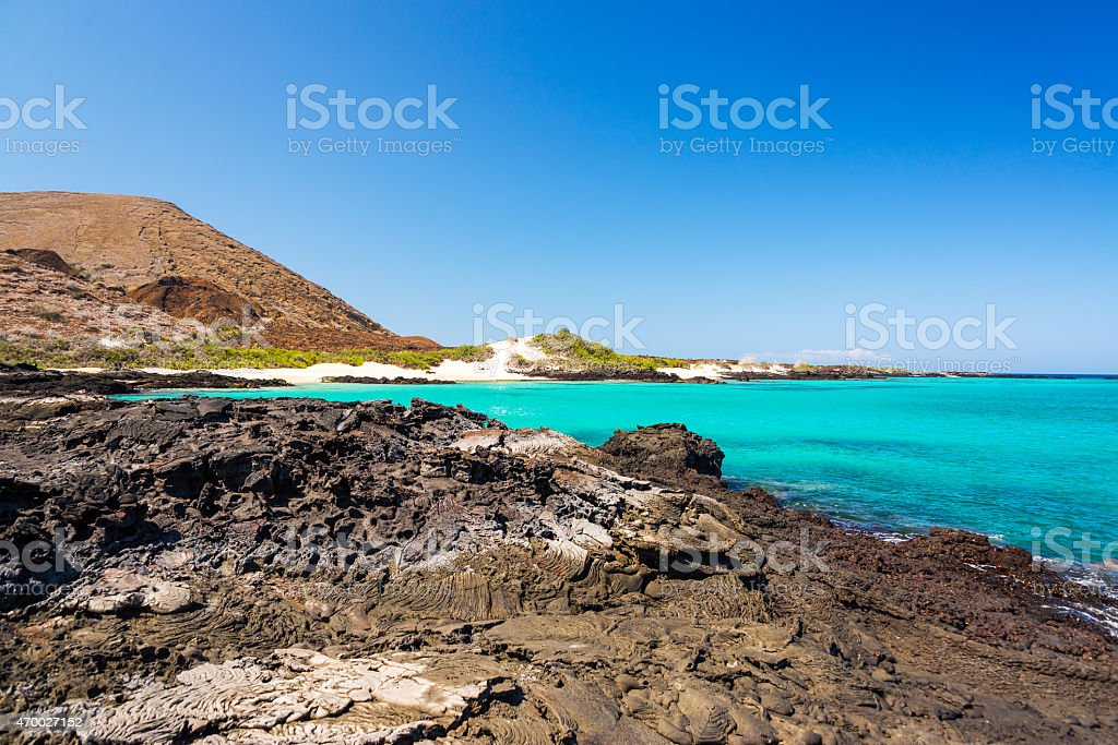 View from Santiago Island stock photo