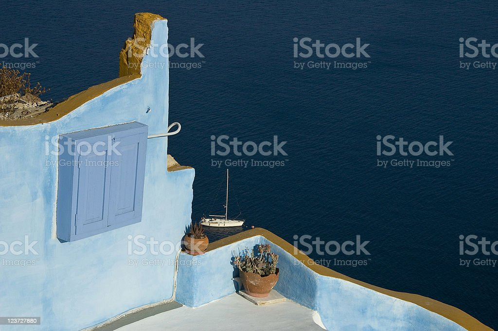 View from Santorini royalty-free stock photo